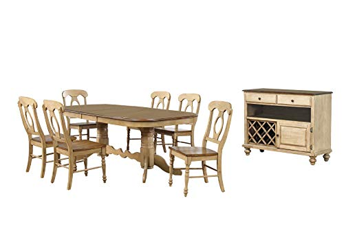 Sunset Trading Brook Dining Table Set, White (French Provincial Dining Table And Chairs For Sale)