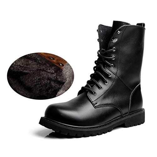 Phil Betty Mens Martin Boots Lace Up Round-Toe Warm Non-Slip Comfortable Casual Booties