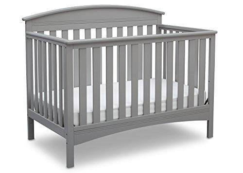 Delta Children Abby 4-in-1 Convertible Crib, Grey