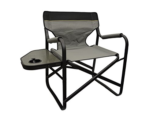 Taupe XL Folding Director's Chair (Extra Wide Design) by EZ Travel Collection