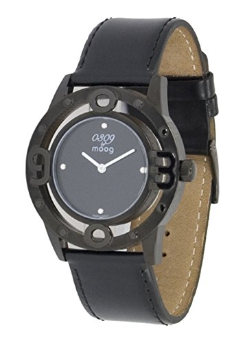 Moog Paris 0309 Women's Watch with Black Dial, Black Strap in Genuine Leather - M41762-004