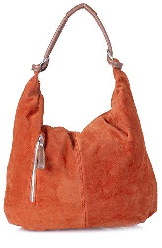 Orange Handbag Burnt bolsas Mujer Hobo St397 Shop Big PYqwA8F18