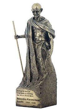 Religious Gifts Indian Civil Rights Leader Mohandas Mahatma Karamchand Gandhi 11 3/4 Inch Cold Cast Bronze Statue