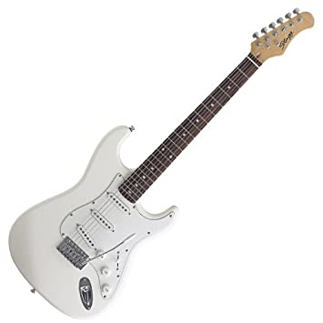 Guitarra Stagg S300-WH Standard Electric S Blanca: Amazon.es: Instrumentos musicales