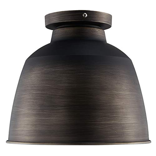 Southern Enterprises AMZ7928TL Averni Flush-Mount Pendant Lamp, Vintage Bronze