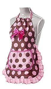 Vigar Lulu Lady Girl - Set de gorro para cocina y delantal, color rosa