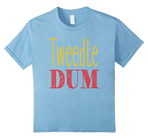 Baby Tweedle Dee Costume (Kids Tweedle Dum T-Shirt Halloween Costume Tee 10 Baby Blue)