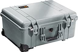 Pelican 1560 Case with Foam for Camera (Silver)