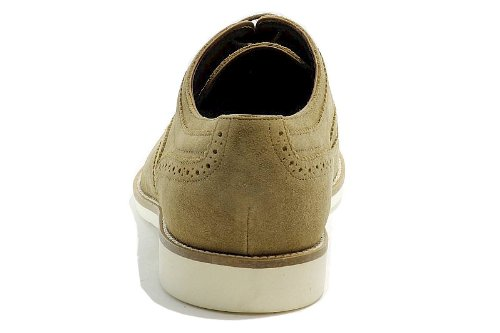Hugo Boss Mens Moda Oxford Cortios Medie Beige Scarpe Scamosciate