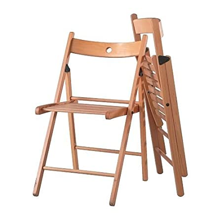 FurnitureXtra Silla Plegable de Madera Maciza para Interior ...