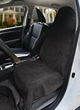 Leader Accessories Black Sweat Towel Car Seat Cover Front Bucket Protector For Athletes Running Swimming