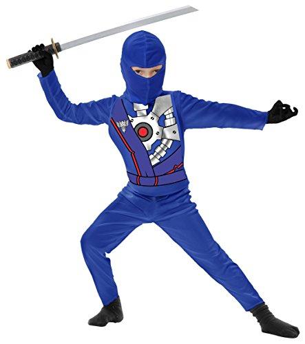 Blue Ninja Avengers Boys Costume Series IV (Medium (8-10))