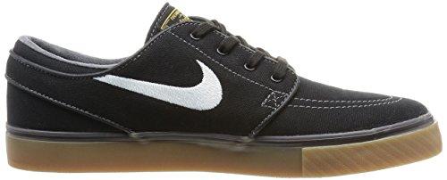 Nike Zoom Stefan Janoski CNVS Zapatillas de skateboarding Negro / Blanco / Amarillo (Blk / White-Mtllc Gld-Gm Lght Br-)