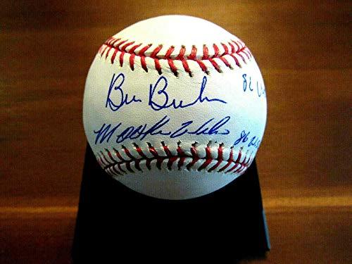 Bill Buckner Mookie Wilson 86 Ws Champ Mets Red Sox Signed Auto Oml Baseball - JSA Certified - Autographed Baseballs