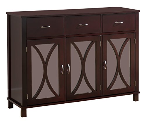 Kings Brand Rutheron Buffet Server Cabinet Console Table