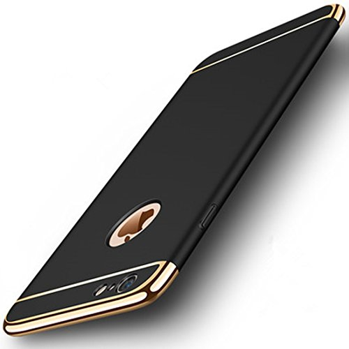 iPhone 6 Plus Case, iPhone 6S Plus Cases,Ultra Thin and Slim Shock-Proof Scratch-Resistant Protective Sleeves for Apple iPhone 6 Plus (5.5') and iPhone 6S Plus(5.5')(Black & Gold)