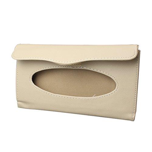 Price comparison product image YSM Sun Visor Tissue Box Auto Accessory Paper Napkin Holder PU Leather Clip Car Tissue Cover Holder