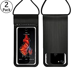 """Feature:1. Universal design fits ALL smartphones measuring up to 6.0"""" diagonal length.NOTE: Phones with large otterbox are not recommended in this bag. 2. Perfect for using your phone while fishing, swimming, snorkeling, kayaking, boating, et..."""