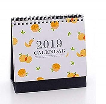 2019 fruta patrón Calendario diario agenda de mesa ...