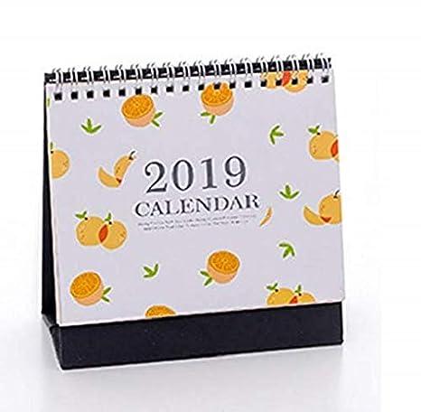 2019 fruta patrón Calendario diario agenda de mesa Calendario ...