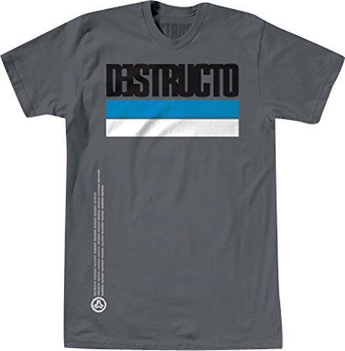 Destructo T-Shirt: Industria [Small] Grey Premium Destructo Short Sleeve T-shirt