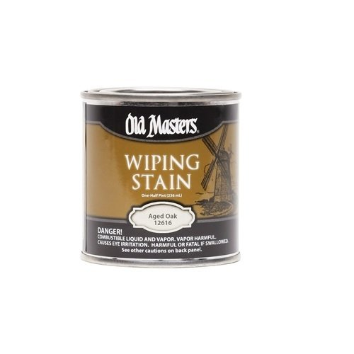 (Old Masters 12716 Semi-Transparent Oil-Based Wiping Stain, 0.5 Pint, Weathered Wood)