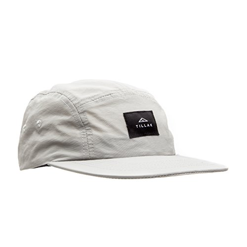 Tillak Wallowa Camp Hat, Lightweight Nylon 5 Panel Grey Cap with Snap Closure (5 Panel Skateboard Hats)