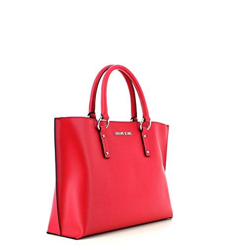 Armani Jeans Damen Borsa Shopping Schultertasche, 28x13x38 cm Geranio