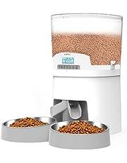 WellToBe Automatische voederdispenser voor katten, 7 l, spraakopname, portiecontrole, timer programmeerbaar, automatische voederdispenser en droogvoer, 6 maaltijden voor dieren