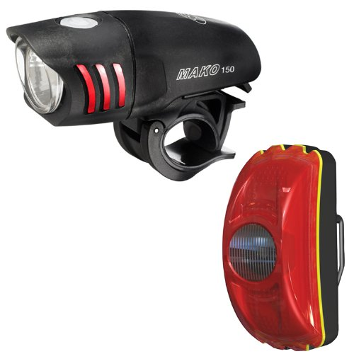 (NiteRider Mako 150 Headlight and CherryBomb Taillight Combo)