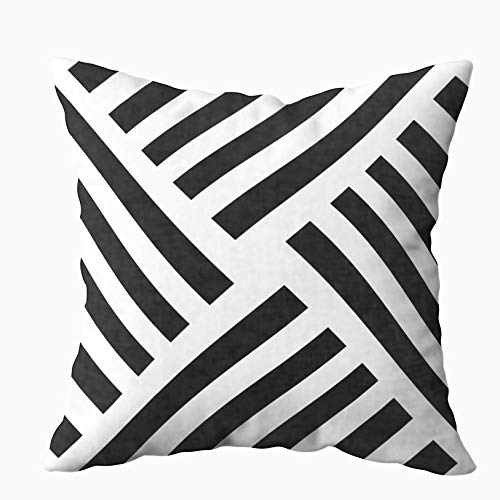 - Capsceoll Geometric Pinwheel Stripe in Black and White Decorative Throw Pillow Case 16X16Inch,Home Decoration Pillowcase Zippered Pillow Covers Cushion Cover with Words for Book Lover Worm Sofa Couch