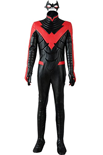 Nightwing Costume New 52 (Wecos Young Justice Nightwing Costume New 52 Red Jumpsuit Adult Size X-Large)