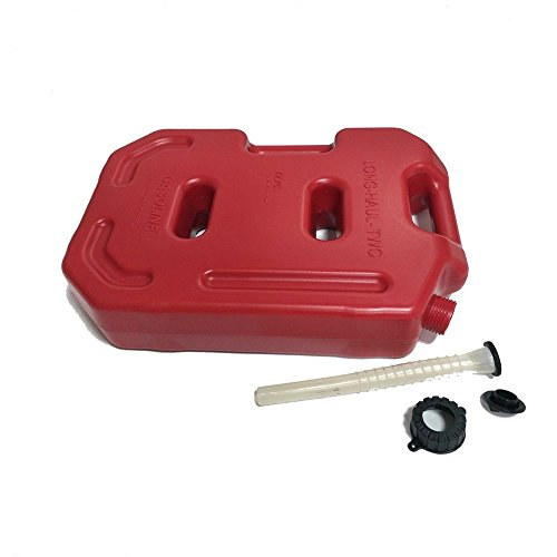 SXMA 10L Fuel Tank Cans Spare 2.6 Gallon Portable Fuel Oil Petrol Diesel Storage Gas Tank Emergency Backup (Pack of 1) Red by SXMA (Image #1)
