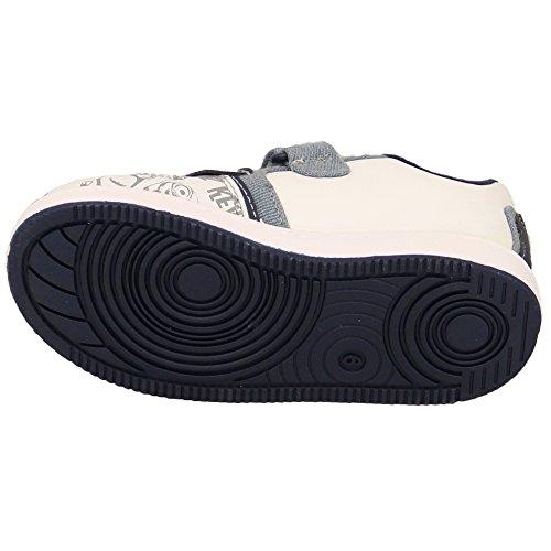 Jungen Turnschuhe Verächtlich Mir Diener Star Wars Klettverschluss Schuhe Kinder Bello Pumps Neu - weiß/Denim - WEDDELL, UK 10EU 28 - Pre School