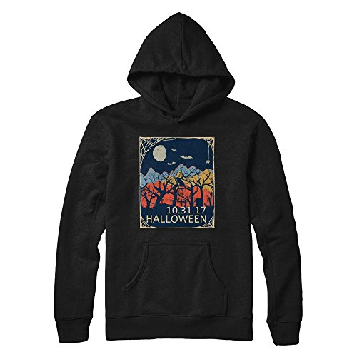 (Teely Shop Women's Vintage Halloween Oct 31 Solar Eclipse 2017 Mountain Country Gildan - Pullover Hoodie / Black /)