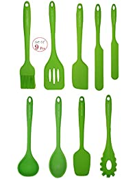 Get 11'' Silicone Cooking/Baking Set (Green) - Set of 9 - Astounding Durability- High Heat Resistance - BPA Free -... occupation