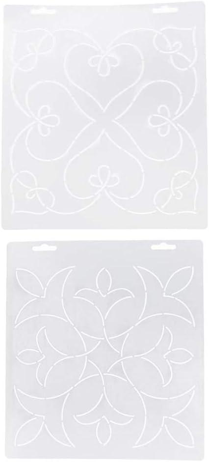 perfk 2er// Set Quiltschablone Patchworkschablone Quilting Schablone Quilt Vorlage DIY Handwerk