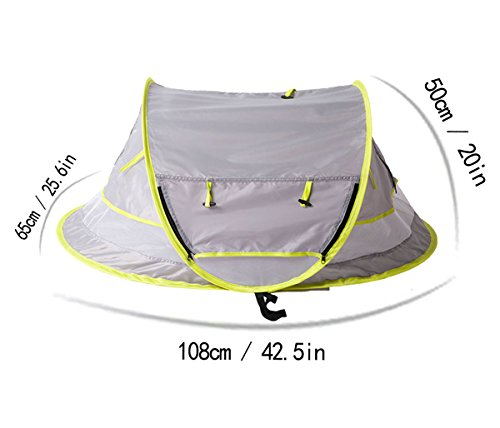Sunnec-Large-Baby-Travel-Tent-Portable-Baby-Travel-  sc 1 st  Baby Carriers & Sunnec Large Baby Travel Tent Portable Baby Travel Bed UPF 50+ ...