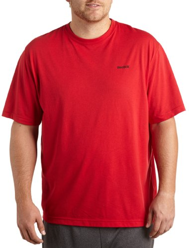 Price comparison product image Reebok Bay Big & Tall Play Dry Tech T-Shirt (5XL,  Red)