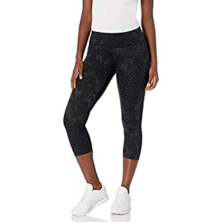 Calvin Klein Women's Charmer and Nova Glow Print Crop Tight, Snake Black Combo, X-Large