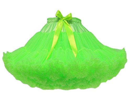 FOLOBE Tutu Costume Ballet Danse Multi-couche Puffy Jupe Adulte Luxueux Joli Petticoat Vert Clair