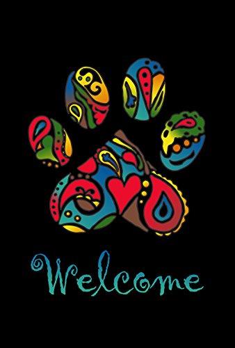 Toland Home Garden Wacky Welcome Paws 12.5 x 18 Inch Decorative Puppy Dog Kitty Cat Pet Rescue Garden Flag