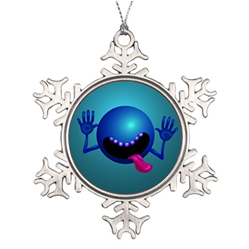 Withyouc Tree Decorating Ideas Funny Halloween Tree Snowflake Ornaments One size -