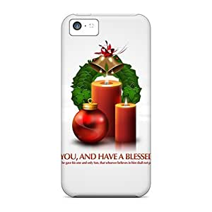 Cute Appearance Cover/pc TlmqIQU3079eGZkr God Bless You Christmas Presents Case For Iphone 5c