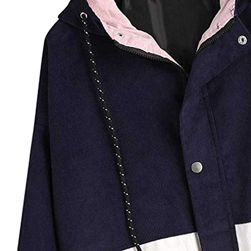 Moda Lunga A Marina Calda Vendita Fittingran Donne Colore Teen Vintage Block Coste Girls Jacket Velluto Manica Donna Oversize Cappotto Hooded zdwBwfxq