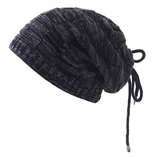 Malltop Autumn Winter Unisex Knitting Thicken Plus Velvet Windproof Cap Headgear Suit Can Be Used As Scarf Hat