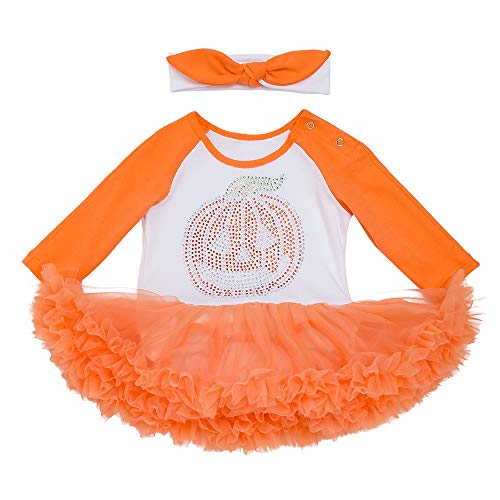 Baby Halloween Costume,Leegor Infant Toddler Girls Pumpkin Bow Party Dress Clothes Dresses ()