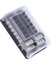 Bloco de fusíveis, amplo painel de fusíveis universal de ampla aplicação Caixa de fusíveis de lâmina multifuncional para automóveis para marinha para carro para barco para RV