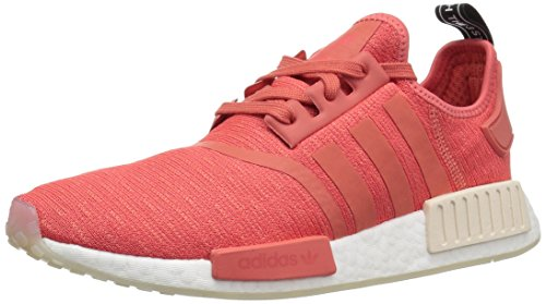 (adidas Originals Women's NMD_R1 Running Shoe, Trace Scarlet/White, 6 M US)