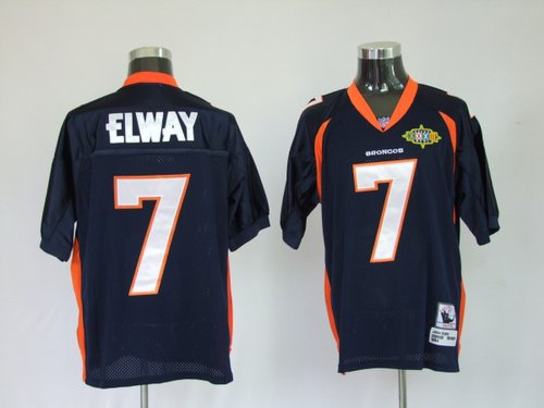Reebok Denver Broncos John Elway Premier Throwback Navy Jersey (Broncos Blue Jersey)